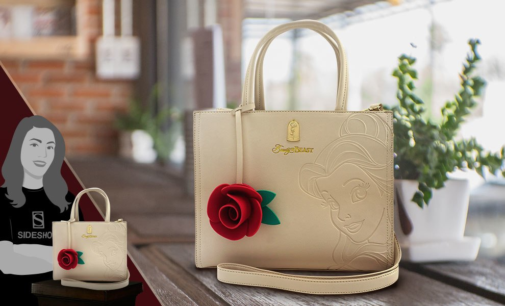 Gallery Feature Image of Disney Belle Embossed Tote Bag Apparel - Click to open image gallery