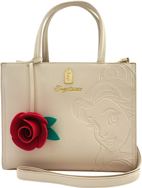 Loungefly Disney Belle Embossed Tote Bag Apparel