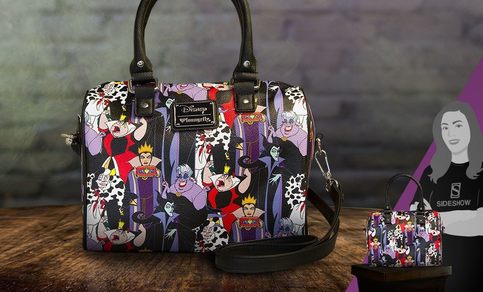 Gallery Feature Image of Disney Villains Pebble Duffle Bag Apparel - Click to open image gallery