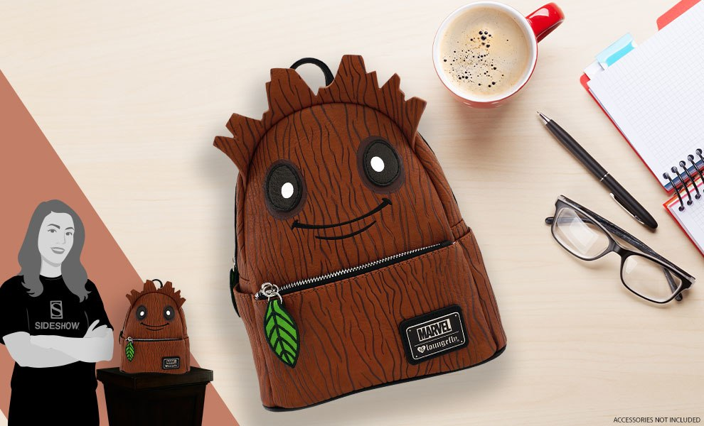 Gallery Feature Image of Groot Mini Backpack Apparel - Click to open image gallery