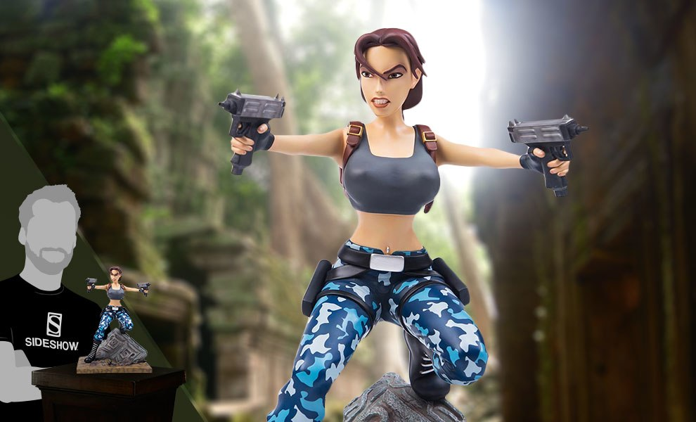 Gallery Feature Image of Adventures of Lara Croft Statue - Click to open image gallery