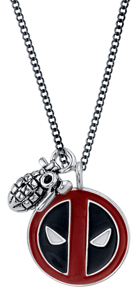 RockLove Deadpool Merc with a Mouth Necklace Jewelry