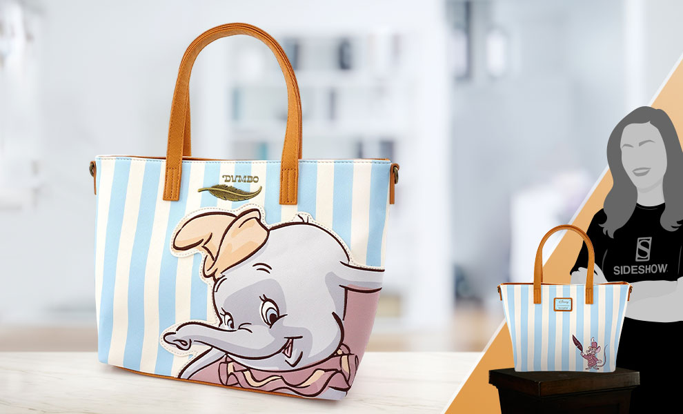 Gallery Feature Image of Dumbo with Stripes Tote Bag Apparel - Click to open image gallery