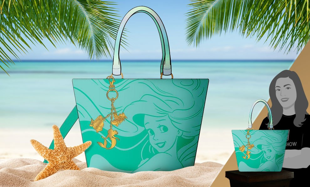 Gallery Feature Image of The Little Mermaid Ocean Tote Bag Apparel - Click to open image gallery