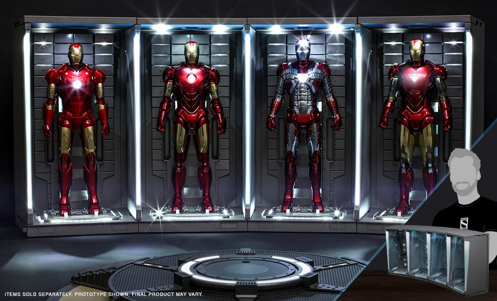 Gallery Feature Image of Hall of Armor Set of 4 Sixth Scale Figure Accessory - Click to open image gallery