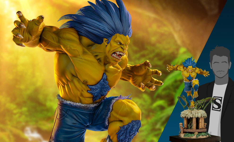 Gallery Feature Image of Blanka (Player 2 Version) Ultra Statue - Click to open image gallery