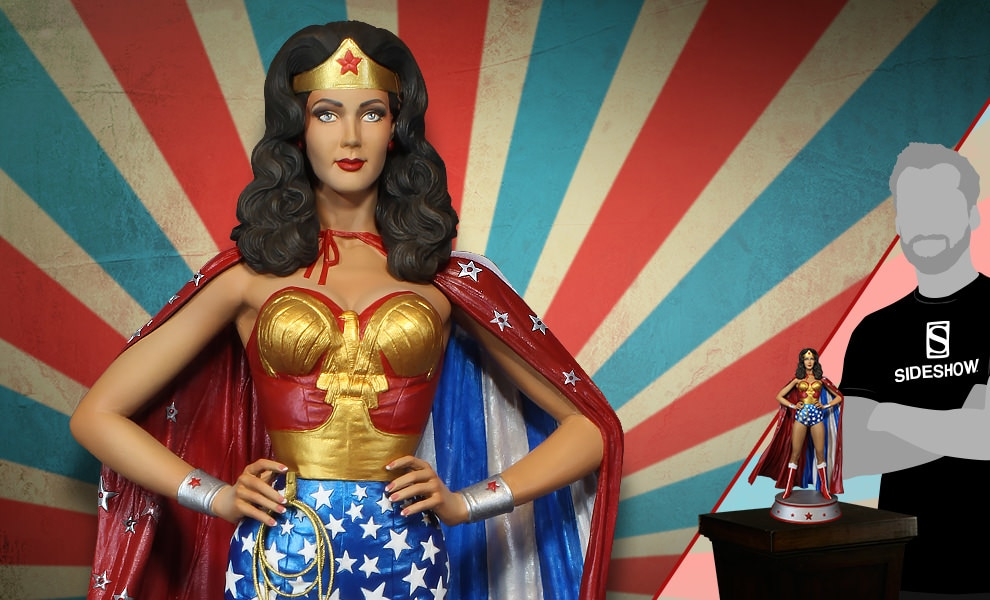 Gallery Feature Image of Wonder Woman Cape Variant Maquette - Click to open image gallery