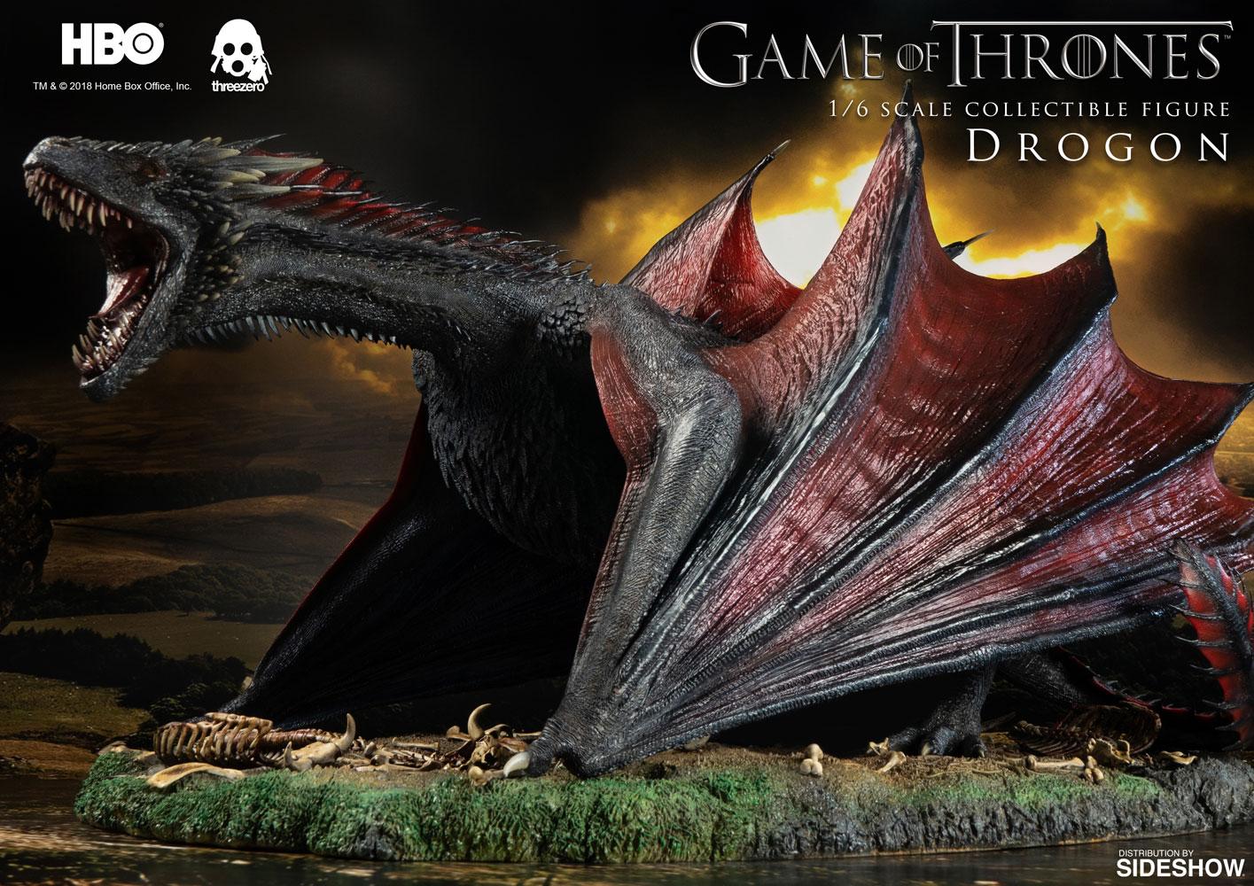Threezero Game Of Thrones Drogon 1 6 Scale Figure