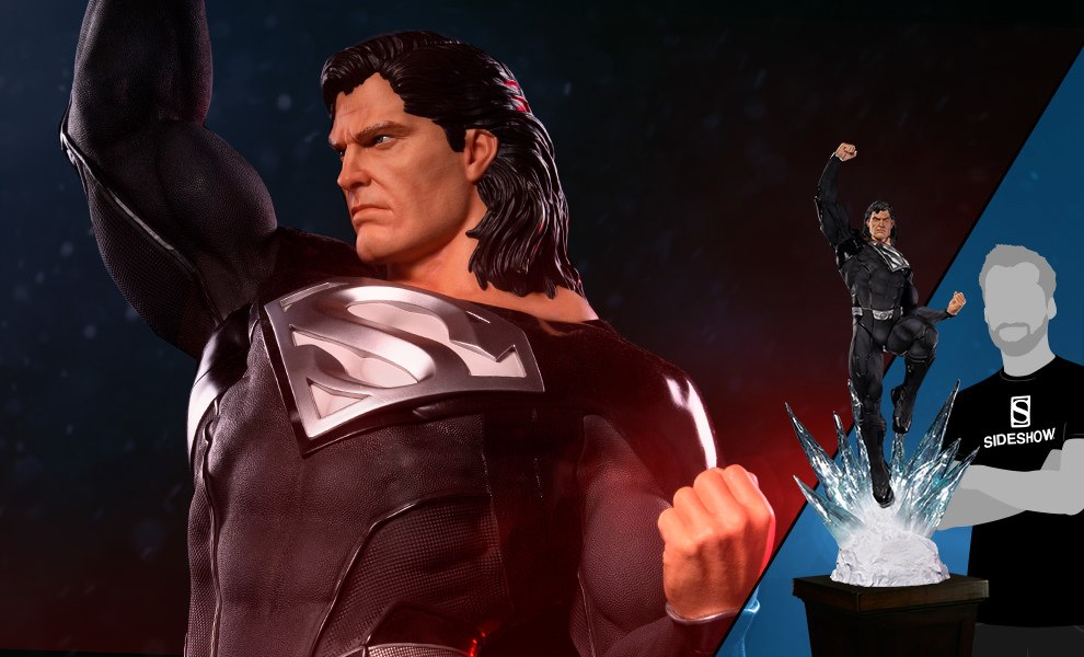 Gallery Feature Image of Superman Black Suit Statue - Click to open image gallery