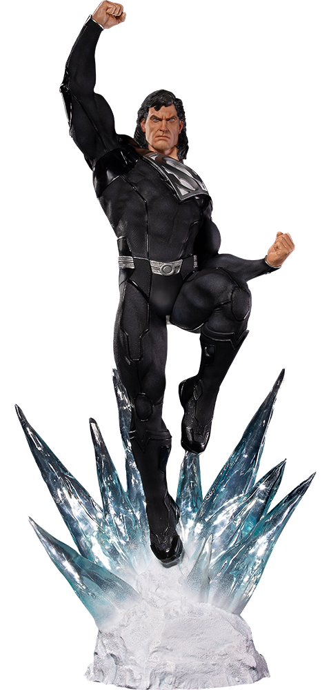Iron Studios Superman Black Suit Statue