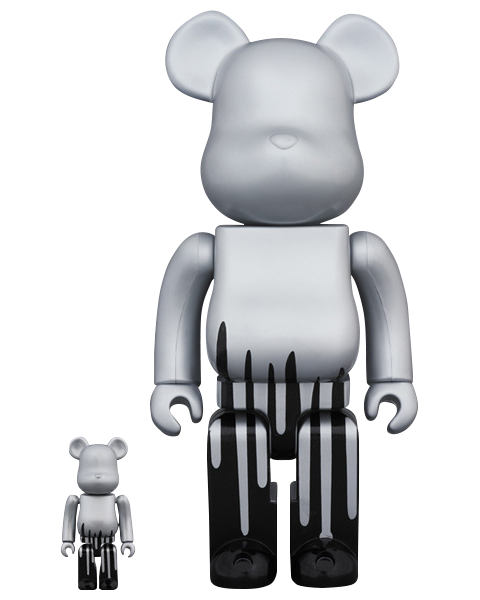 Medicom Toy Bearbrick Krink 100 and 400 Collectible Set