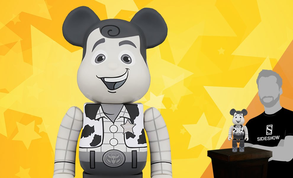 Gallery Feature Image of Bearbrick Woody Black and White 400 Figure - Click to open image gallery