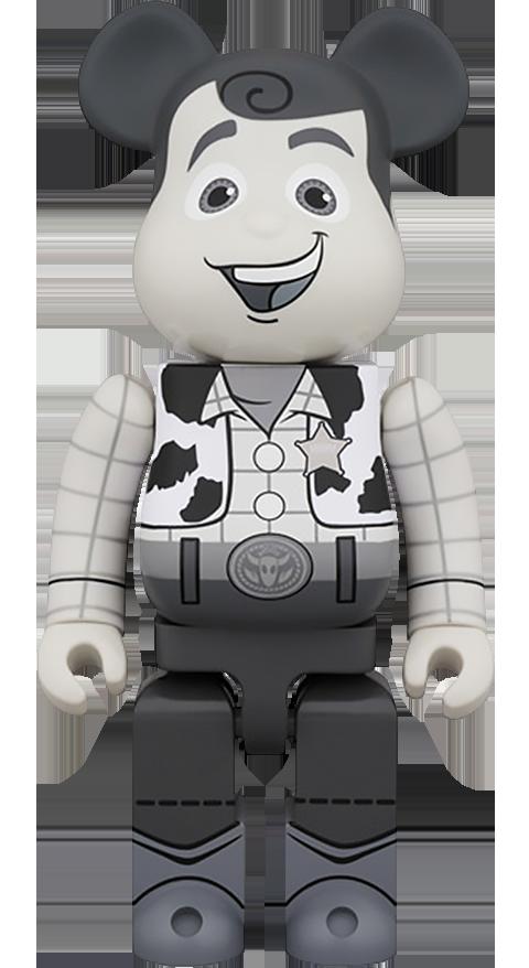 Medicom Toy Bearbrick Woody Black and White 400 Figure