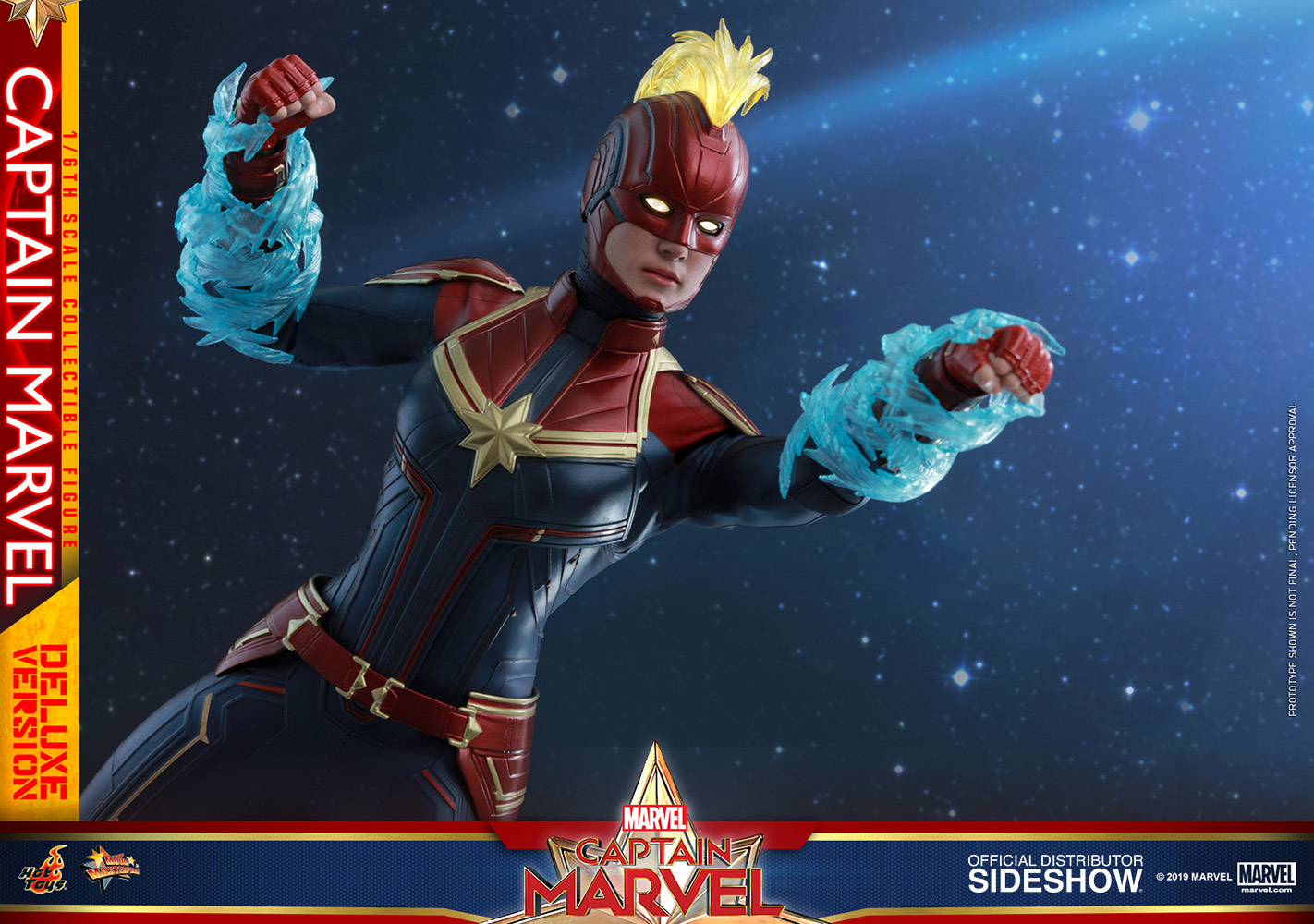 Hot Toys Captain Marvel Deluxe Figure Sideshow Collectibles