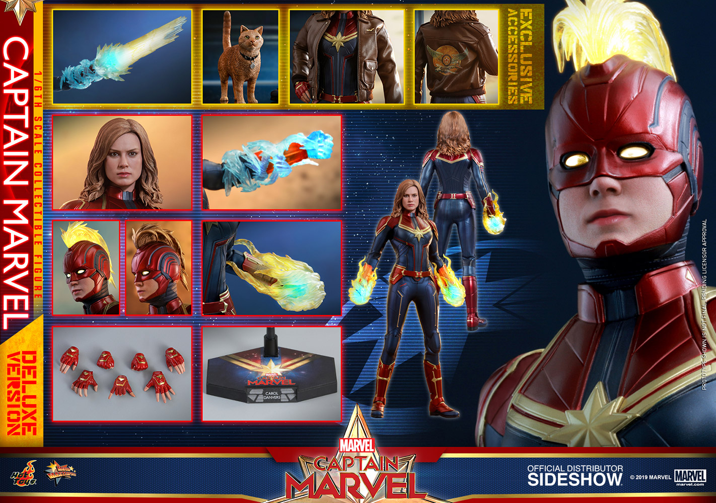 ed2c2ade Hot Toys Captain Marvel Deluxe Figure | Sideshow Collectibles