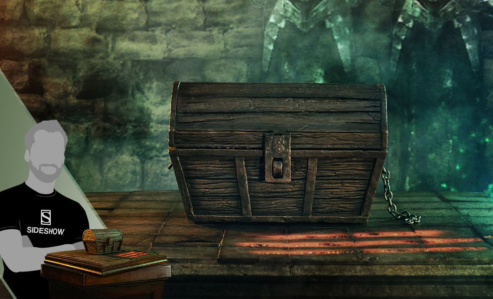 Gallery Feature Image of Mimic Chest Companion Statue - Click to open image gallery