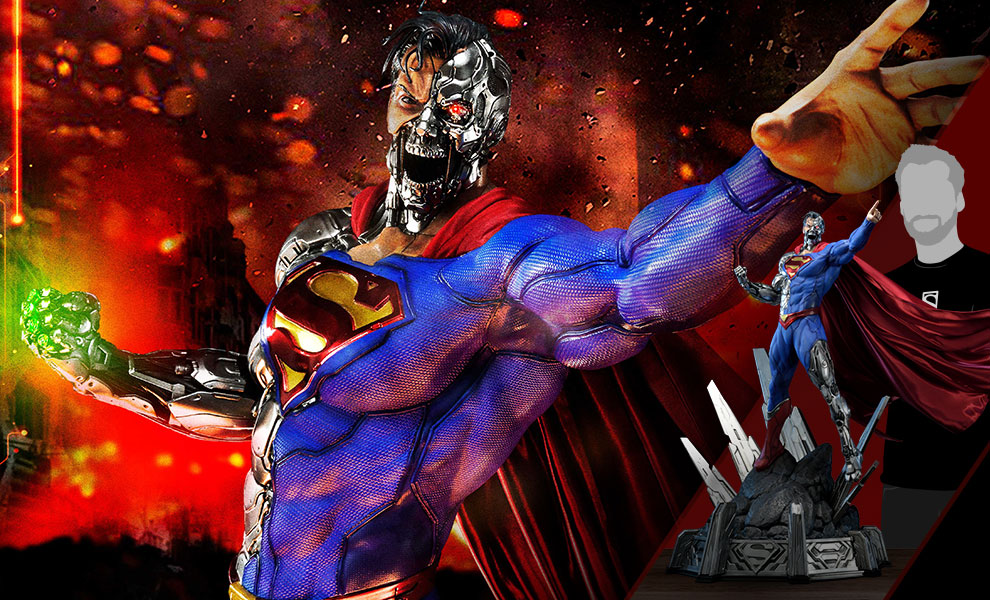 Gallery Feature Image of Cyborg Superman Statue - Click to open image gallery