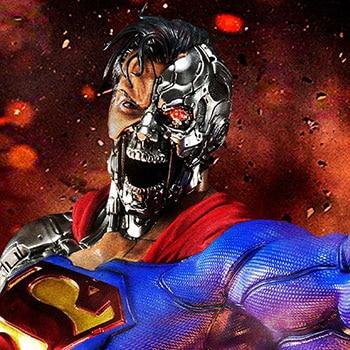 Cyborg Superman 1:3 Scale Statue