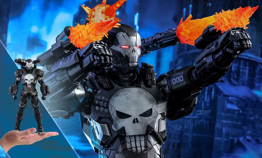 Gallery Feature Image of The Punisher War Machine Armor Sixth Scale Figure - Click to open image gallery