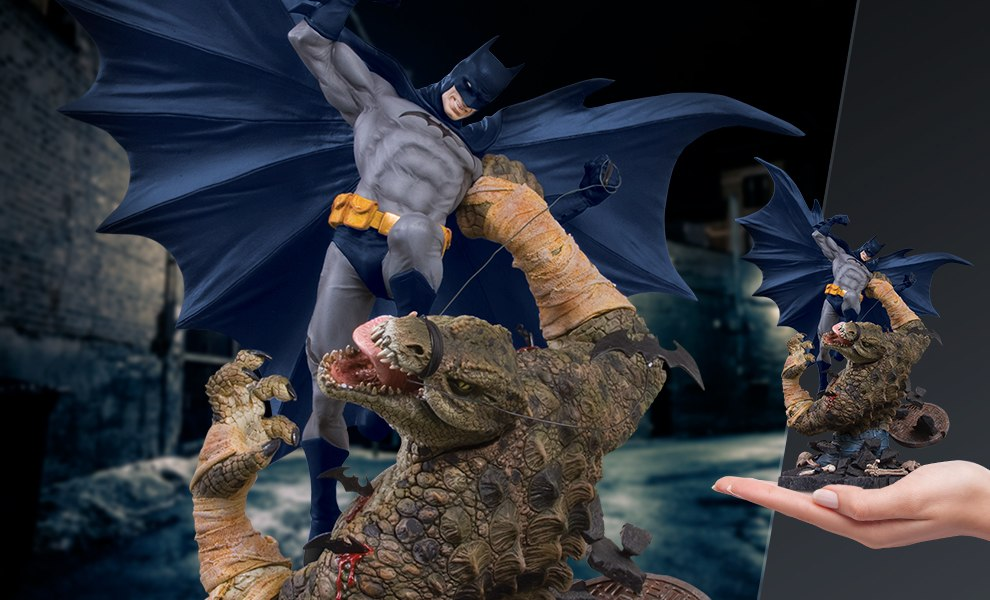 Gallery Feature Image of Batman VS Killer Croc Statue - Click to open image gallery