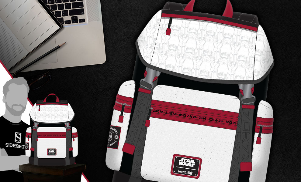 Gallery Feature Image of Star Wars Stormtrooper Backpack Apparel - Click to open image gallery