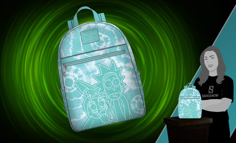 Gallery Feature Image of Rick and Morty Tie-Dye Mini Backpack Apparel - Click to open image gallery