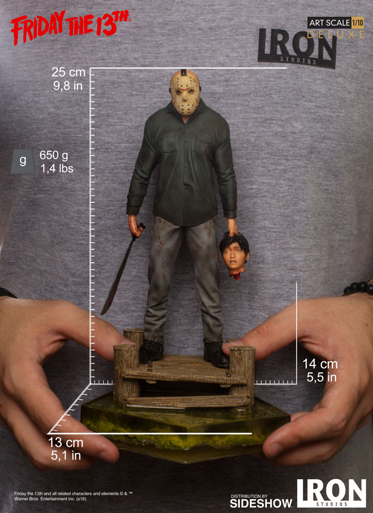 Iron Studios Friday the 13th Jason Art Scale 1//10 Statue