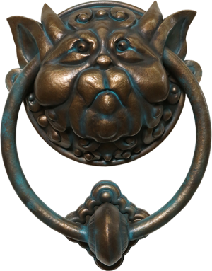 Labyrinth Door Knocker Left Scaled Replica