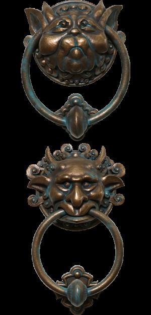 Labyrinth Door Knocker Set Scaled Replica