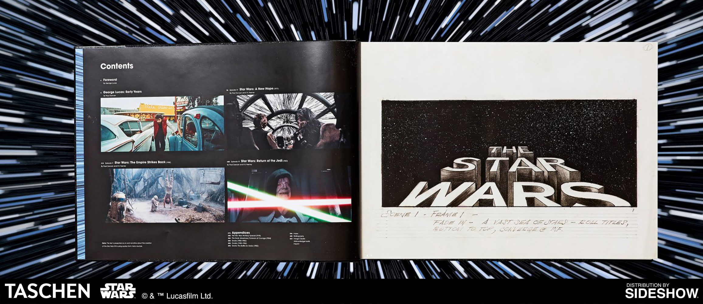Taschen The Star Wars Archives 1977 1983 Hardcover Book Sideshow Collectibles