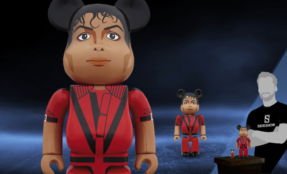 Gallery Feature Image of Be@rbrick Michael Jackson Red Jacket 100% and 400% Collectible Set - Click to open image gallery