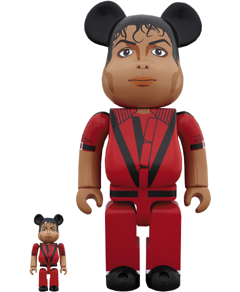Medicom Toy Be@rbrick Michael Jackson Red Jacket 100% and 400% Collectible Set