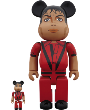 Be@rbrick Michael Jackson Red Jacket 100% and 400% Collectible Set