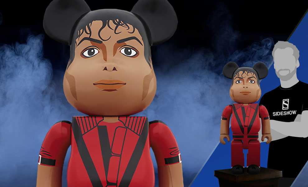Gallery Feature Image of Be@rbrick Michael Jackson Red Jacket 1000% Figure - Click to open image gallery