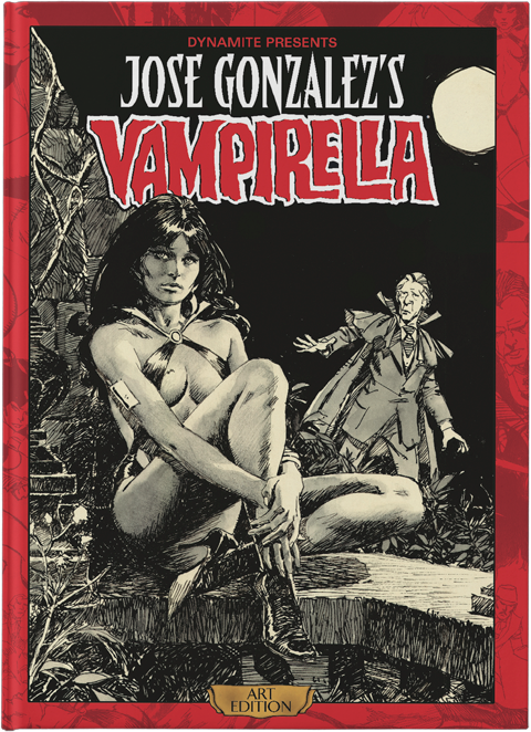 Dynamite Entertainment Jose Gonzalez Vampirella Art Edition Book