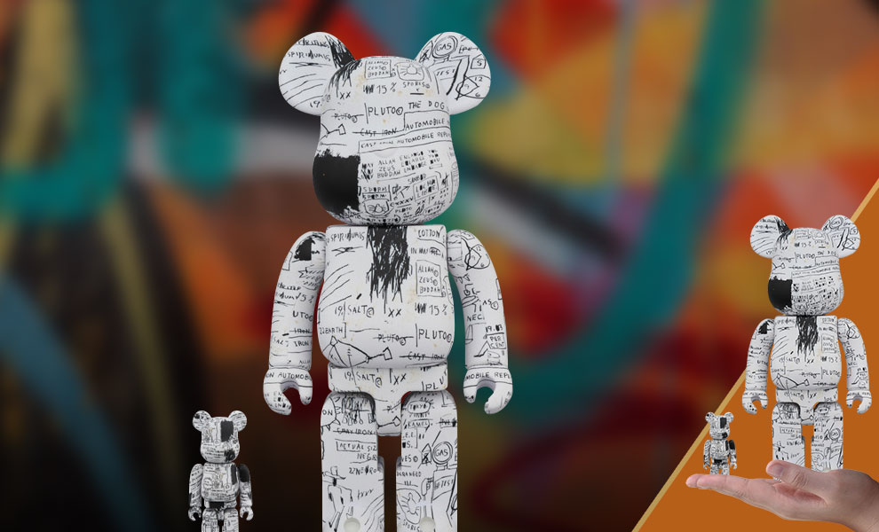 Gallery Feature Image of Be@rbrick Jean-Michel Basquiat #3 100% and 400% Collectible Set - Click to open image gallery