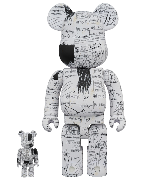 Medicom Toy Be@rbrick Jean-Michel Basquiat #3 100% and 400% Collectible Set