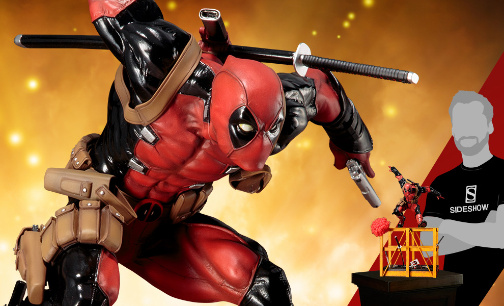 Gallery Feature Image of Super Deadpool Statue - Click to open image gallery