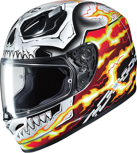 ghost rider hjc fg 17 full face helmet sideshow collectibles. Black Bedroom Furniture Sets. Home Design Ideas