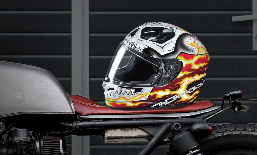 Gallery Feature Image of Ghost Rider HJC FG-17 Helmet - Click to open image gallery