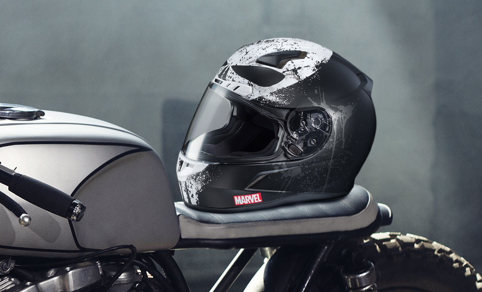 Gallery Feature Image of Punisher 2 HJC CL-17 Helmet - Click to open image gallery