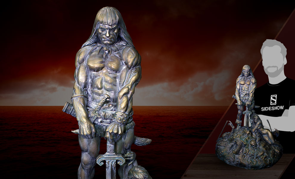 Gallery Feature Image of Conan the Barbarian Sacred Bronze Statue - Click to open image gallery