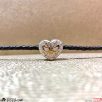 Gallery Image of Spider-Heart Silver and Gold Bead - Large Jewelry