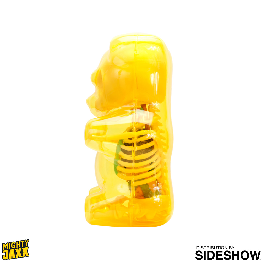 Funny Anatomy Gummi Bear Clear Yellow Art Collectible By Jason
