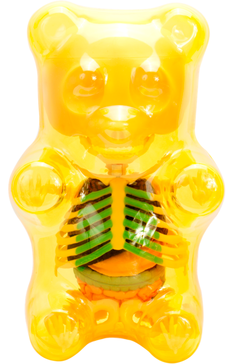 Mighty Jaxx Funny Anatomy Gummi Bear (Clear Yellow) Collectible Figure