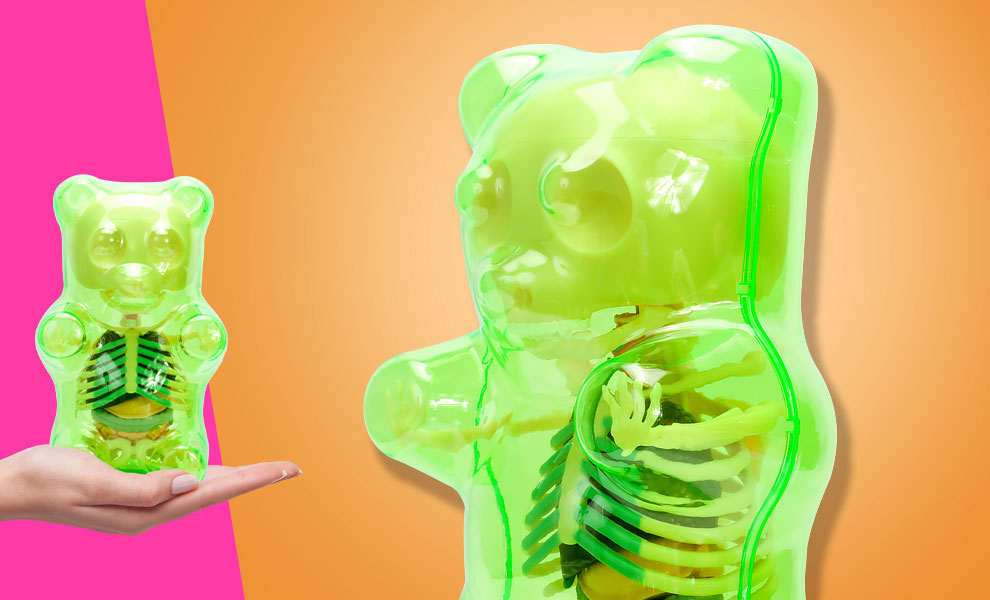 Gallery Feature Image of Funny Anatomy Gummi Bear (Clear Green) Collectible Figure - Click to open image gallery