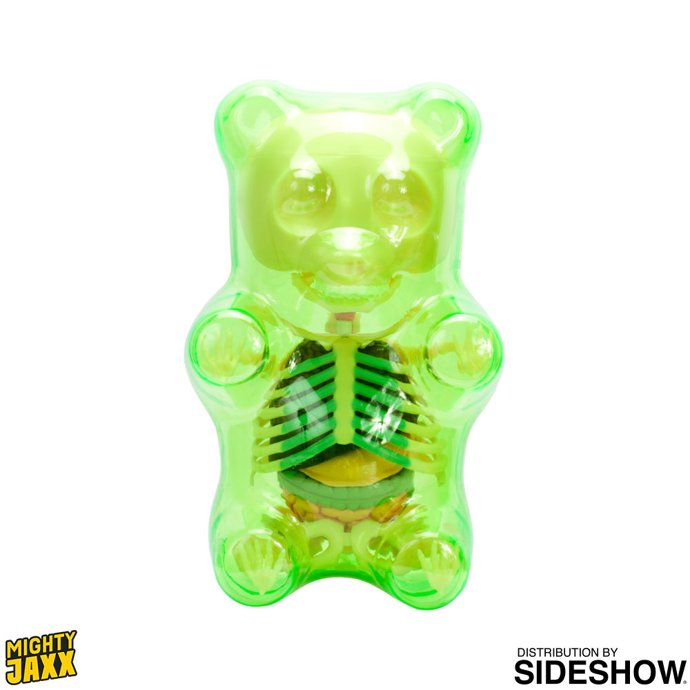 Funny Anatomy Gummi Bear Clear Green Art Collectible By Jason