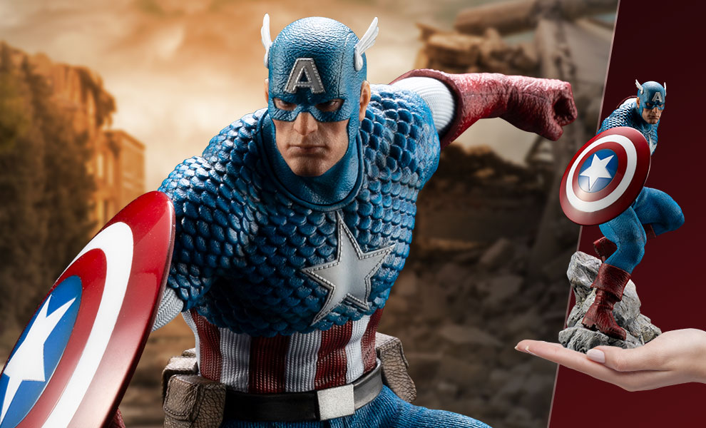 Gallery Feature Image of Captain America 1:10 Scale Statue - Click to open image gallery