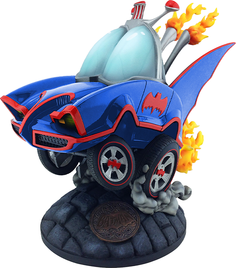 Cryptozoic Entertainment Batman Classic TV Series Batmobile (Blue Variant) Statue