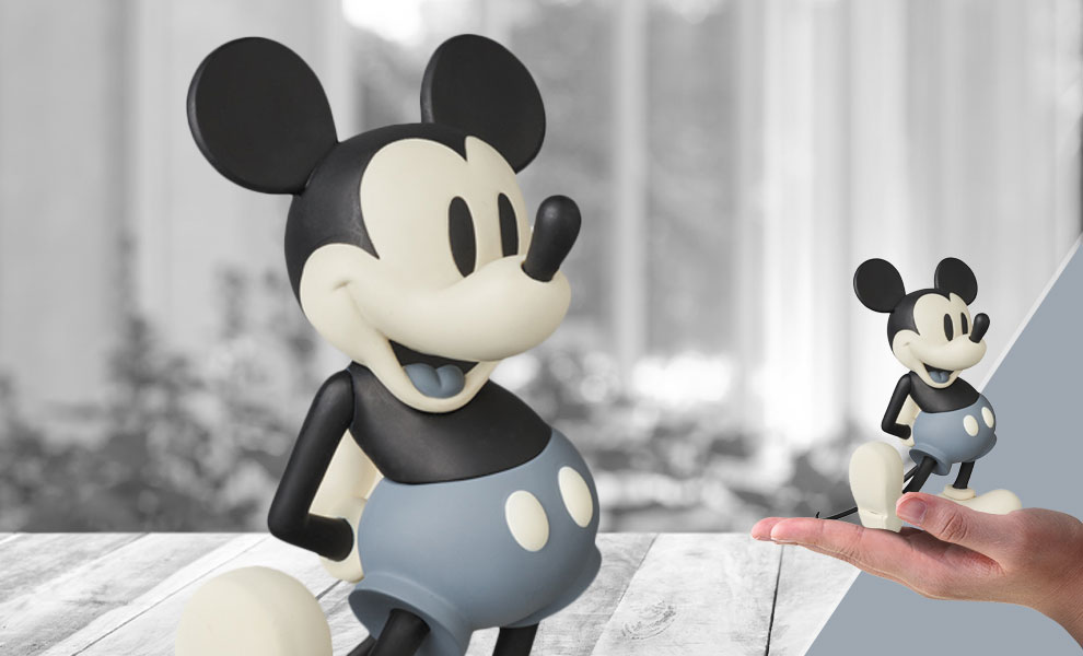 Gallery Feature Image of Mickey Mouse (Standard B & W Version) Vinyl Collectible - Click to open image gallery